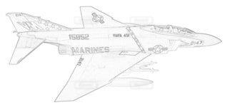 アメリカ海兵隊 F-4J ファントムⅡ 第451戦闘攻撃飛行隊の写真・画像素材[3740787]