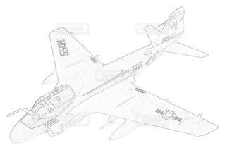 アメリカ海軍 A-6E イントルーダー 第52戦闘飛行隊の写真・画像素材[3771527]