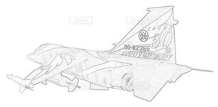 航空自衛隊 F-1 第6飛行隊 航空自衛隊50周年記念の写真・画像素材[3786833]