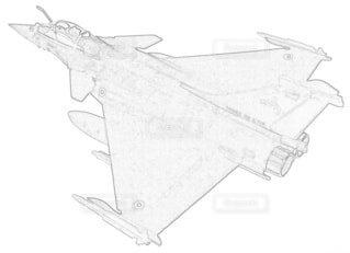 フランス空軍 ラファールCの写真・画像素材[3864596]