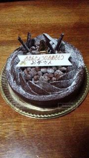 母の誕生日ケーキの写真・画像素材[3440260]