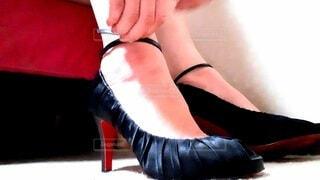 靴を脱ぐの写真・画像素材[4694378]