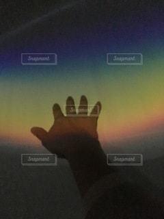 虹に手がとどいたの写真・画像素材[3439480]