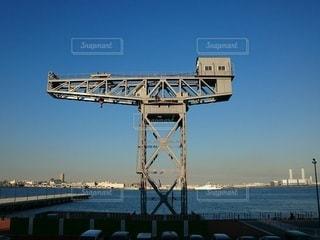 水の体に架かる橋 横浜ハンマーヘッドの写真・画像素材[3441574]