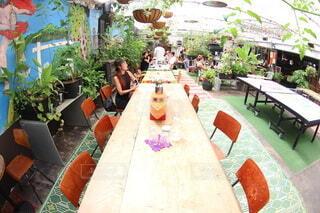 ボタニカルなカフェの写真・画像素材[3695598]