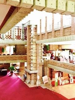明治村博物館、帝国ホテル中央玄関部の館内ロビーの写真・画像素材[3555423]
