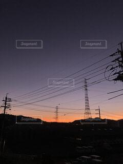 夜明けの空の写真・画像素材[4938564]