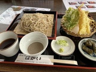 蕎麦定食の写真・画像素材[3447399]