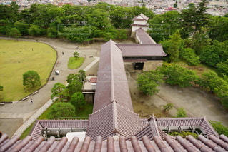 会津鶴ヶ城の天守閣にての写真・画像素材[3459720]