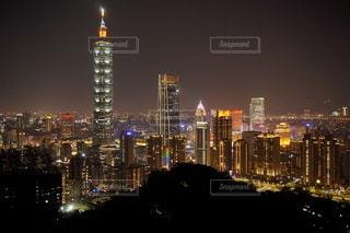 夜の台北の眺めの写真・画像素材[3465467]