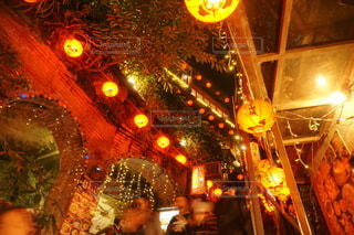 九フンの夜の街並みの写真・画像素材[3465478]