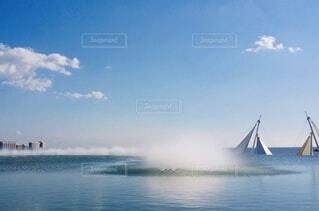葛西臨海水族園の屋上からの写真・画像素材[4195708]