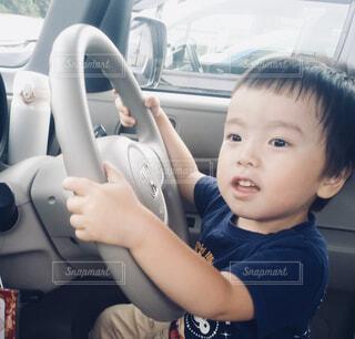 軽自動車の運転席の写真・画像素材[4274592]