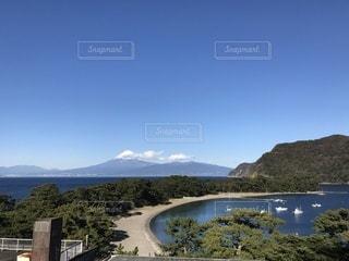 富士山と岬の写真・画像素材[3539684]