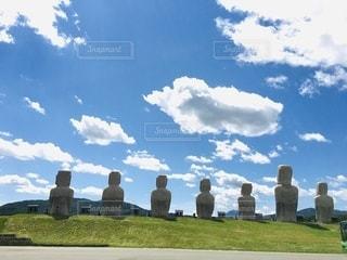 北海道のモアイ像の写真・画像素材[3571019]
