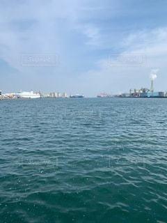 船出港後の海の写真・画像素材[3464749]