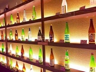 日本酒飲み比べの写真・画像素材[3490478]