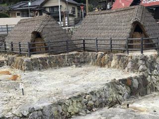 温泉地に湯の華小屋の写真・画像素材[3720886]
