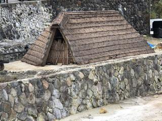 別府石の上の湯の華小屋の写真・画像素材[3720883]