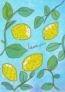 布レモンのイラストの写真・画像素材[3484338]