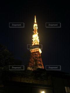 夜の東京タワーの写真・画像素材[2709458]