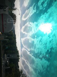 地震雲の写真・画像素材[3486445]