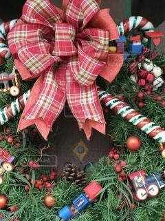 クリスマスリースの写真・画像素材[4643938]