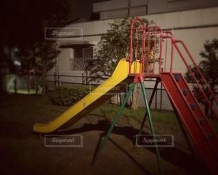 夜の児童公園の写真・画像素材[3544191]
