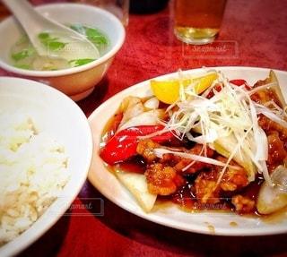 酢豚定食の写真・画像素材[3580144]