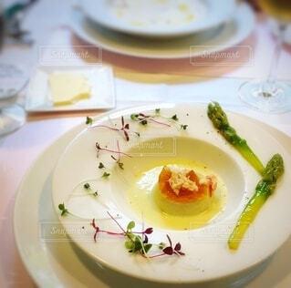 コース料理の蟹のムースの写真・画像素材[3703557]