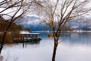 余呉湖の写真・画像素材[4132258]