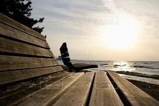 木製ベンチの写真・画像素材[4224563]