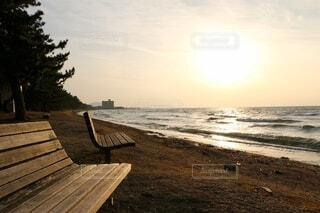 木製ベンチの写真・画像素材[4224578]