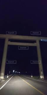 夜中の鳥居の写真・画像素材[3516321]