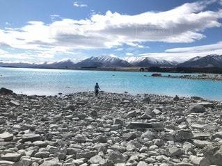水色の湖の写真・画像素材[3490205]
