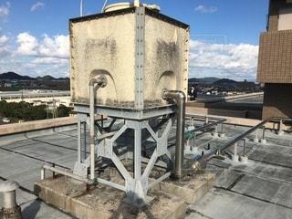 高架水槽(マンション屋上の写真・画像素材[3492670]
