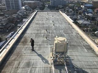 マンション屋上写真(高架水槽の写真・画像素材[3492671]