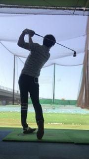 ゴルフスイングの写真・画像素材[3495566]