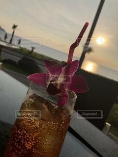 夕陽待ちの写真・画像素材[3495726]