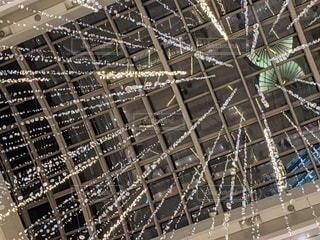 冬の空港の照明の写真・画像素材[3499398]