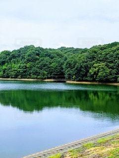 湖の写真・画像素材[3593914]