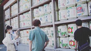 鎌倉の樽酒の写真・画像素材[3502673]