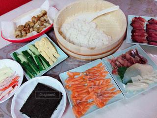 手巻き寿司の写真・画像素材[3505489]
