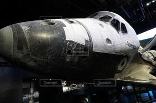 スペースシャトルのディスカバリー号の正面の写真・画像素材[3507039]