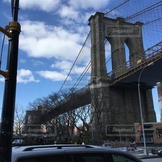 アメリカのニューヨークのブルックリン大橋の写真・画像素材[3507105]