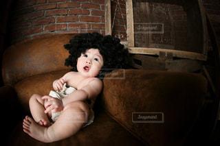 アフロの赤ちゃんの写真・画像素材[3271613]