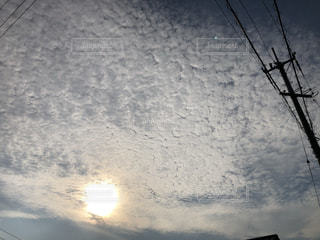 空の雲のクローズアップの写真・画像素材[3520413]