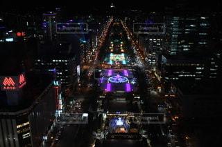 夜の都市の眺めの写真・画像素材[3514814]