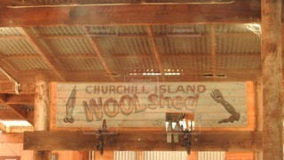 壁に木製の看板の写真・画像素材[3566058]