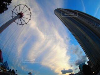 空の雲のクローズアップの写真・画像素材[3723036]
